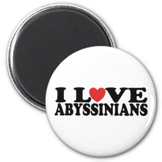 I Love Abyssinians Cat Fridge Magnet