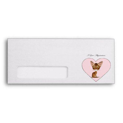 I Love Abyssinians Envelopes