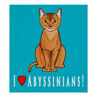 I Love Abyssinians! Posters