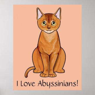 I Love Abyssinians! Print