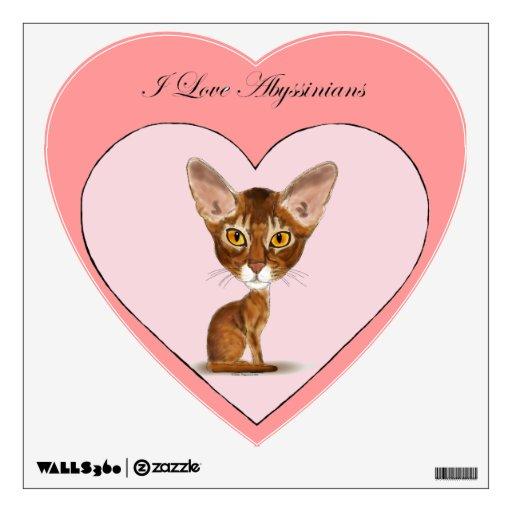 I Love Abyssinians Wall Sticker