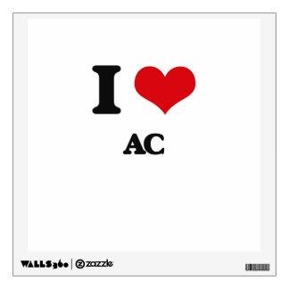 I Love Ac Room Decal