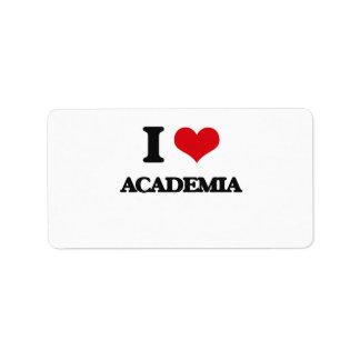 I Love Academia Custom Address Labels