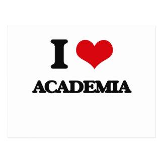 I Love Academia Post Cards