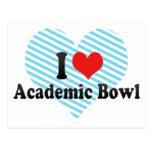 I Love Academic Bowl Postcard