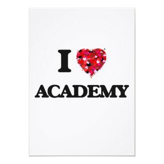 I Love Academy 5x7 Paper Invitation Card