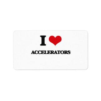 I Love Accelerators Labels