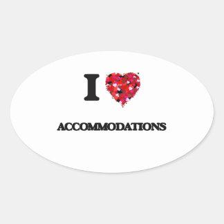 I Love Accommodations Oval Sticker
