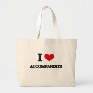 I Love Accompanists Jumbo Tote Bag