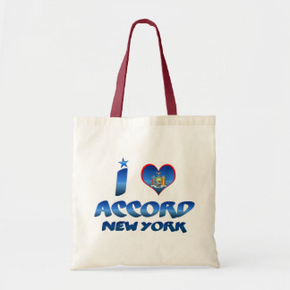 I love Accord, New York Canvas Bags