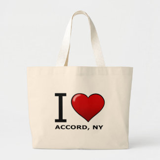 I Love Accord, NY Tote Bags