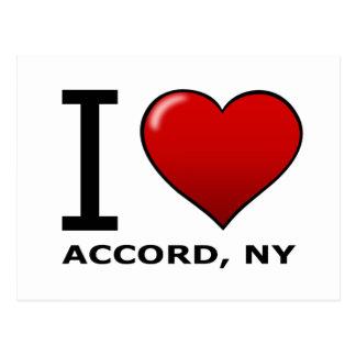 I Love Accord, NY Postcard