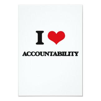 I Love Accountability 3.5x5 Paper Invitation Card