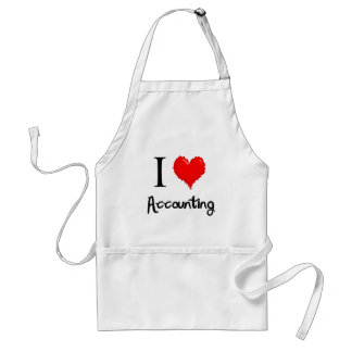 i love accounting adult apron