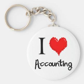 i love accounting basic round button keychain