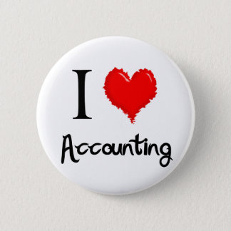 i love accounting pinback button