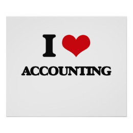 I Love Accounting Poster