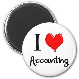 i love accounting refrigerator magnets