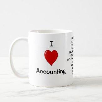 I Love Accounting - triple-sided mug mug