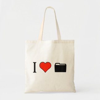 I Love Accounts Budget Tote Bag