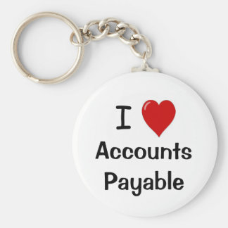 I Love Accounts Payable - I Heart Accounts Payable Keychain