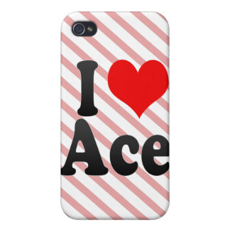 I love Ace iPhone 4/4S Case