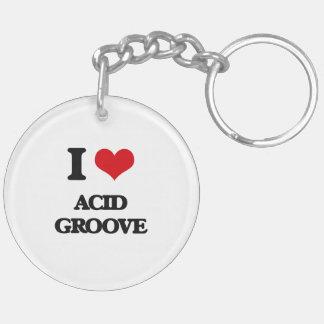I Love ACID GROOVE Acrylic Keychain