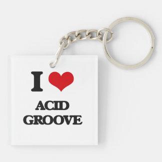 I Love ACID GROOVE Key Chains