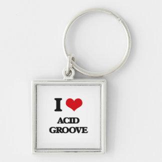 I Love ACID GROOVE Key Chain