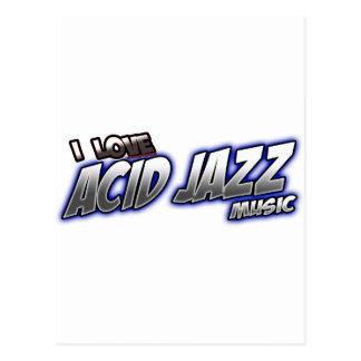 I Love ACID JAZZ music Postcard