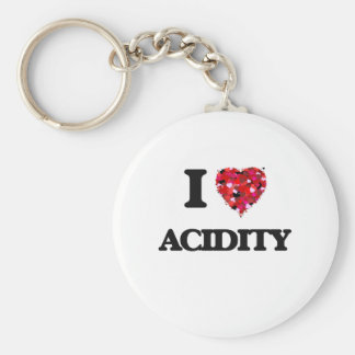 I Love Acidity Basic Round Button Keychain