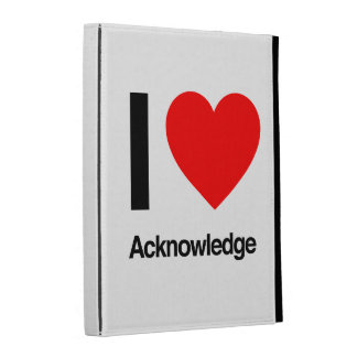 i love acknowledge iPad case