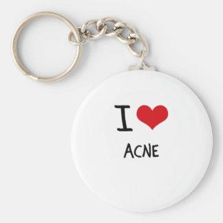 I Love Acne Keychains