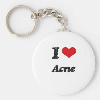 I Love Acne Key Chain