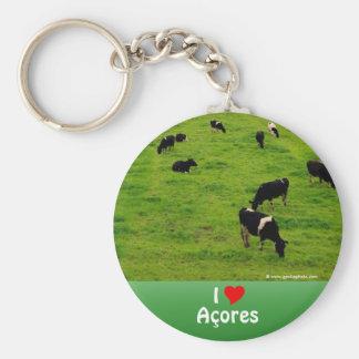 I Love Acores Keychain
