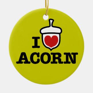 I Love Acorn Ornament