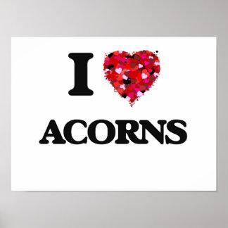 I Love Acorns Poster