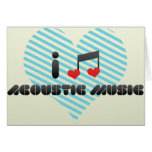 I Love Acoustic Music Greeting Card