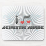 I Love Acoustic Music Mouse Pad