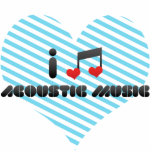 I Love Acoustic Music Photo Cut Out