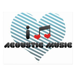 I Love Acoustic Music Postcards