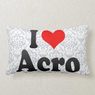 I love Acro Throw Pillow