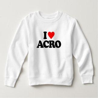 I LOVE ACRO TODDLER SWEATSHIRT