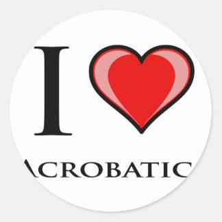 I Love Acrobatics Classic Round Sticker