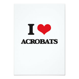 I Love Acrobats Customized Invitation Cards