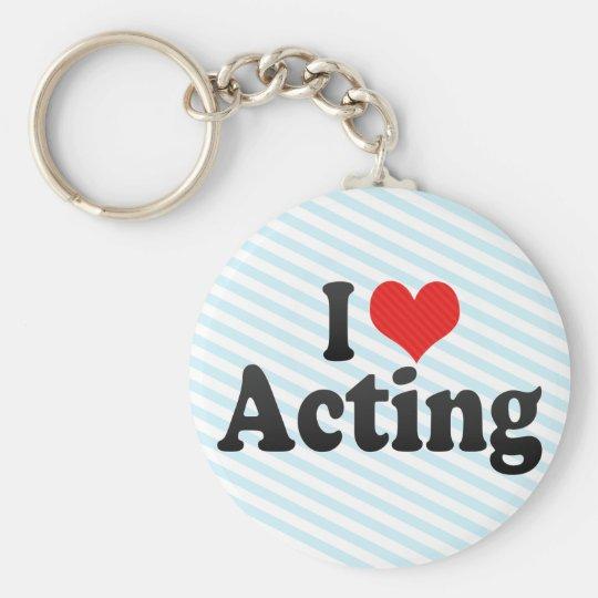 I Love Acting Keychain