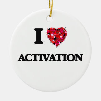 I Love Activation Double-Sided Ceramic Round Christmas Ornament