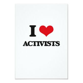 I Love Activists 3.5x5 Paper Invitation Card