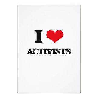 I Love Activists 5x7 Paper Invitation Card
