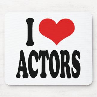 I Love Actors Mouse Pad